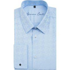 Koszula SIMONE1B KDNS000071. Niebieskie koszule męskie Giacomo Conti, w geometryczne wzory, z bawełny, z klasycznym kołnierzykiem, z długim rękawem. Za 229.00 zł.