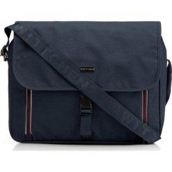 Torba na laptopa 86-3P-200-7. Brązowe torby na laptopa męskie Wittchen, w paski, z materiału. Za 155.00 zł.