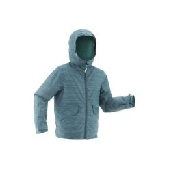 Kurtka SH100 WARM dla dzieci. Szare kurtki i płaszcze dla dziewczynek QUECHUA. Za 99.99 zł.