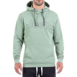 Bluza w kolorze jasnozielonym. Zielone bluzy męskie Jeep, z nadrukiem. W wyprzedaży za 112.95 zł.