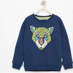 Bluza z lampartem - Granatowy. Bluzy dla chłopców marki Reserved. W wyprzedaży za 24.99 zł.