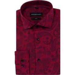 Koszula SIMONE KDAS000337. Czarne koszule męskie Giacomo Conti, paisley, z bawełny, z kontrastowym kołnierzykiem. Za 169.00 zł.