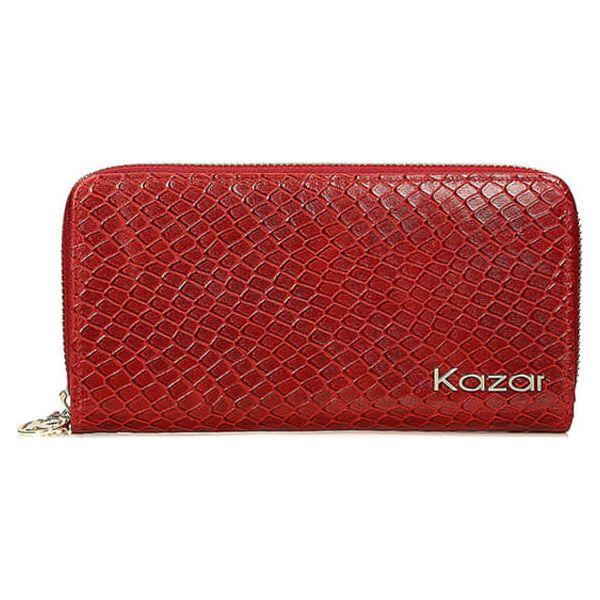 fd16684316638 Skórzany portfel w kolorze czerwonym - (S)19 x (W)10 cm - Portfele ...
