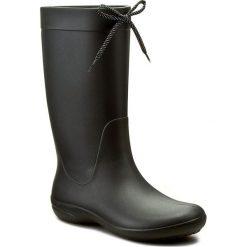 Kalosze CROCS - Freesail Rain Boot 203541 Black. Czarne kozaki damskie Crocs, z materiału. W wyprzedaży za 169.00 zł.