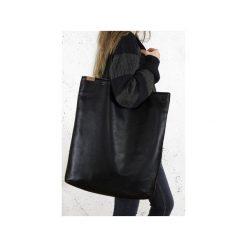 Mega Shopper bag czarna torba oversize Vegan. Czarne torebki shopper damskie Hairoo, w paski. Za 185.00 zł.