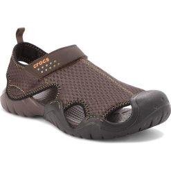 Sandały CROCS - Swiftwater Sandal M 15041 Espresso/Espresso. Brązowe sandały męskie Crocs, z materiału. Za 219.00 zł.