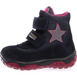"""Botki zimowe """"Free"""" w kolorze granatowo-różowym. Botki dziewczęce Zimowe obuwie dla dzieci. W wyprzedaży za 195.95 zł."""