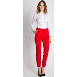 Czerwone spodnie w kant BIALCON. Czerwone spodnie materiałowe damskie BIALCON. Za 209.00 zł.