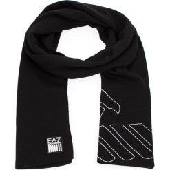 Szal EA7 EMPORIO ARMANI - 275804 8A302 00020 Black. Czarne szaliki i chusty damskie EA7 Emporio Armani, z materiału. W wyprzedaży za 269.00 zł.