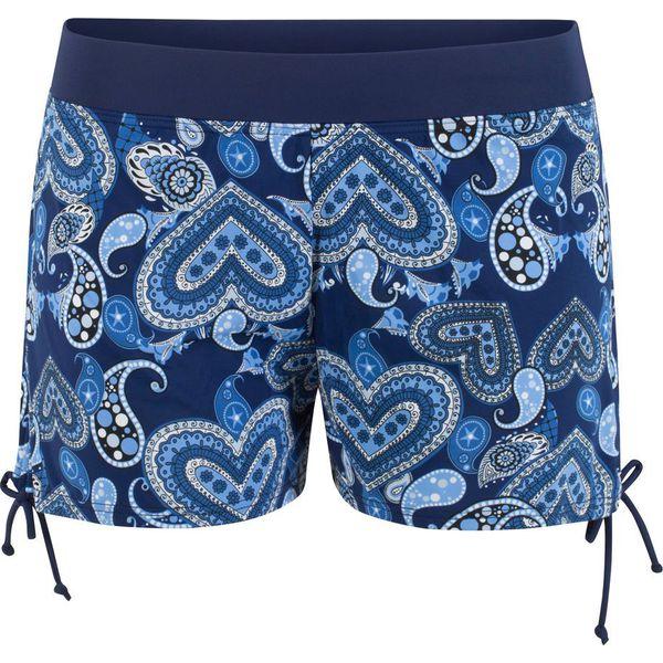 5b3707c86b80ec Szorty kąpielowe bonprix niebieski z nadrukiem - Bikini damskie ...
