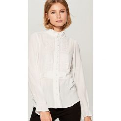 Koszula z wiskozy Gold Label - Kremowy. Białe koszule damskie Mohito, z wiskozy. Za 119.99 zł.