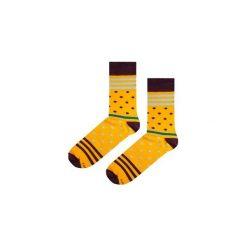 Skarpetki Yellow Stripes N Dots. Niebieskie skarpety męskie marki Soxstory, z napisami. Za 16.00 zł.