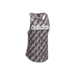 Koszulka Gym z nadrukiem. Szare koszulki sportowe damskie Adidas. W wyprzedaży za 69.99 zł.