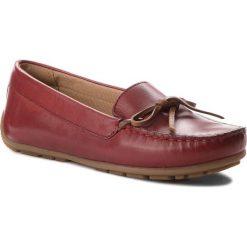 Mokasyny CLARKS - Dameo Swing 261330214 Red Leather. Czerwone mokasyny damskie Clarks, z materiału. W wyprzedaży za 199.00 zł.