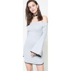 Missguided - Sukienka. Szare sukienki damskie Missguided, z elastanu, casualowe. W wyprzedaży za 39.90 zł.