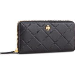 Duży Portfel Damski TORY BURCH - Georgia Zip Continental Wallet 39962 Black 001. Czarne portfele damskie Tory Burch, ze skóry. Za 999.00 zł.