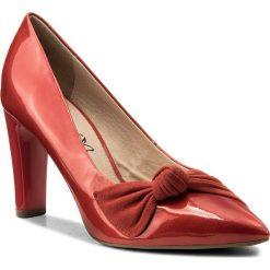 Półbuty CAPRICE - 9-22403-20 Red Comb 523. Czerwone półbuty damskie Caprice, z materiału. W wyprzedaży za 189.00 zł.