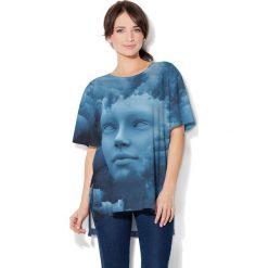 Colour Pleasure Koszulka CP-033  105 niebieska r. uniwersalny. Bluzki damskie marki Colour Pleasure. Za 76.57 zł.