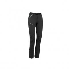 Spodnie turystyczne MH500 damskie. Czarne spodnie materiałowe damskie QUECHUA, z elastanu. Za 129.99 zł.