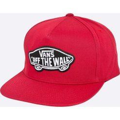 Vans - Czapka. Czerwone czapki i kapelusze męskie Vans. W wyprzedaży za 99.90 zł.