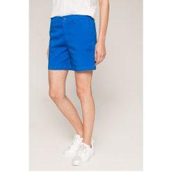 Tommy Jeans - Szorty. Szare szorty damskie Tommy Jeans, z bawełny, casualowe. W wyprzedaży za 239.90 zł.