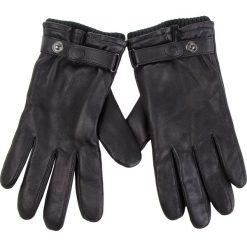 Rękawiczki Męskie UGG - M Leather Belted Glove 17455 Black. Czarne rękawiczki męskie UGG, ze skóry. Za 519.00 zł.