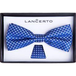 MUCHA NIEBIESKA SLIM. Niebieskie krawaty i muchy LANCERTO, z dzianiny, eleganckie. Za 79.90 zł.