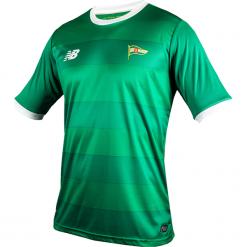 Koszulka Jr Lechia Gdańsk - EJT7008JGG. Zielone koszulki sportowe męskie New Balance, na jesień, z materiału. W wyprzedaży za 89.99 zł.