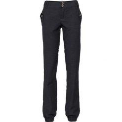 Spodnie w paski bonprix czarny. Czarne spodnie materiałowe damskie bonprix, w paski. Za 79.99 zł.