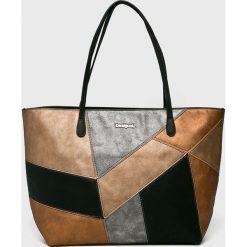 Desigual - Torebka. Szare torby na ramię damskie Desigual. W wyprzedaży za 249.90 zł.
