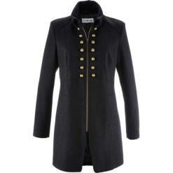 Płaszcz w militarnym stylu z kolekcji Maite Kelly bonprix czarny. Płaszcze damskie marki FOUGANZA. Za 249.99 zł.