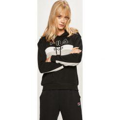 Czarne bluzy z kapturem damskie Fila Kolekcja zima 2020