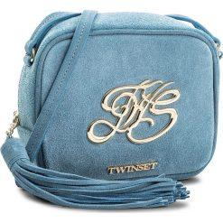 Torebka TWINSET - Mini Tracolla OS8TEB Blue Sto 00077. Niebieskie listonoszki damskie Twinset, ze skóry. W wyprzedaży za 409.00 zł.