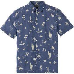 Koszula z krótkim rękawem Regular Fit bonprix indygo z nadrukiem. Koszule męskie marki Giacomo Conti. Za 32.99 zł.