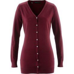 Długi sweter rozpinany bonprix czerwony klonowy. Kardigany damskie marki bonprix. Za 59.99 zł.