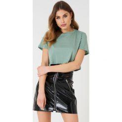 NA-KD Basic Krótki T-shirt oversize - Green. Zielone t-shirty damskie NA-KD Basic, z bawełny. Za 40.95 zł.