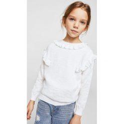 Mango Kids - Sweter dziecięcy Helen2 110-164 cm. Swetry dla dziewczynek Mango Kids, z bawełny, z okrągłym kołnierzem. W wyprzedaży za 39.90 zł.