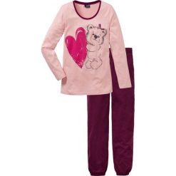 Piżama bonprix stary róż z nadrukiem. Piżamy damskie marki bonprix. Za 59.99 zł.