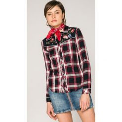 Tally Weijl - Koszula. Szare koszule damskie TALLY WEIJL, z haftami, z tkaniny, casualowe, z klasycznym kołnierzykiem, z długim rękawem. W wyprzedaży za 69.90 zł.