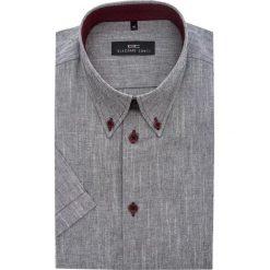 Koszula SERGIO SLIM 14-02-47. Czerwone koszule męskie Giacomo Conti, z tkaniny, button down, z krótkim rękawem. Za 149.00 zł.