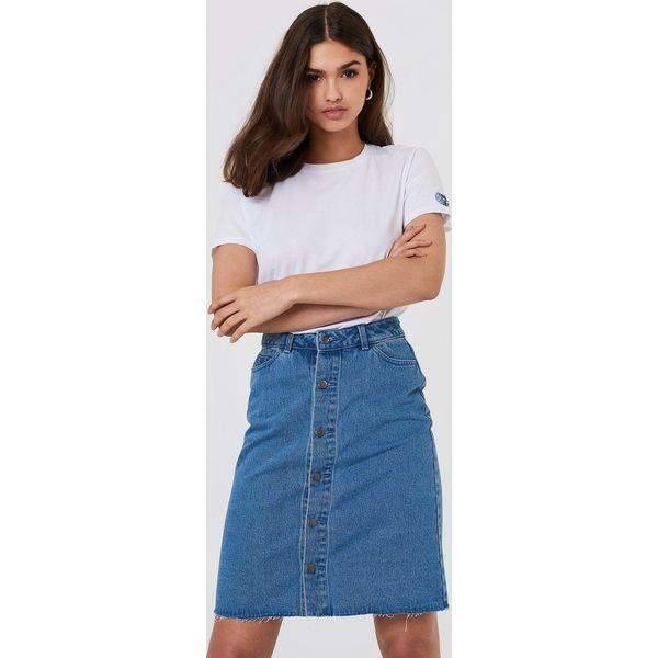 5b08d559 NA-KD Spódnica jeansowa zapinana na guziki - Blue