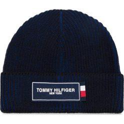 Czapka TOMMY HILFIGER - Tommy Patch Beanie AM0AM03989 901. Niebieskie czapki i kapelusze męskie Tommy Hilfiger. Za 229.00 zł.