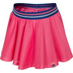 Spódniczka dla małych dziewczynek JSPUD107 - RÓŻOWY NEON. Czerwone spódniczki dla dziewczynek 4F JUNIOR, z bawełny. W wyprzedaży za 49.99 zł.