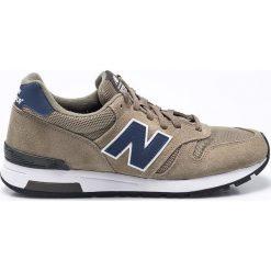 New Balance - Buty ML565SGN. Szare buty sportowe męskie New Balance, z materiału. W wyprzedaży za 269.90 zł.