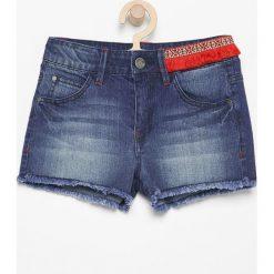 Jeansowe szorty z aplikacją - Granatowy. Spodenki dla dziewczynek marki KIPSTA. W wyprzedaży za 29.99 zł.