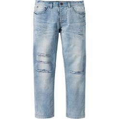 """Dżinsy Regular Fit Straight bonprix jasnoniebieski """"bleached used"""". Jeansy męskie marki bonprix. Za 49.99 zł."""