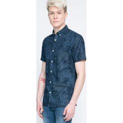 Produkt by Jack & Jones - Koszula. Szare koszule męskie PRODUKT by Jack & Jones, z bawełny, button down, z krótkim rękawem. W wyprzedaży za 59.90 zł.