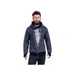 The eye by OTECKI bluza męska grey. Szare bluzy męskie Slogan ubrania ekologiczne, etyczne i wegańskie, z bawełny. Za 319.00 zł.