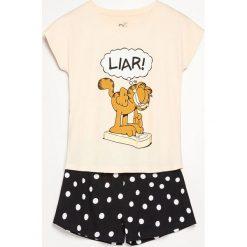 Dwuczęściowa piżama Garfield - Beżowy. Piżamy damskie marki MAKE ME BIO. Za 59.99 zł.