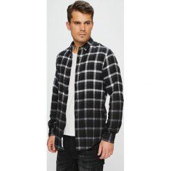 Only & Sons - Koszula. Czarne koszule męskie Only & Sons, w kratkę, z bawełny, z klasycznym kołnierzykiem, z długim rękawem. Za 149.90 zł.